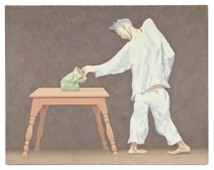 1.  Sack on Table, 1986, 33 x 42