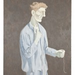 Man with String, 1986, oil on canvas, 42 x 32