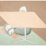 Under Table, 2011, oil on canvas, 24 x 28