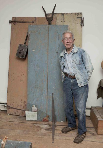 David Byrd, artist, in studio