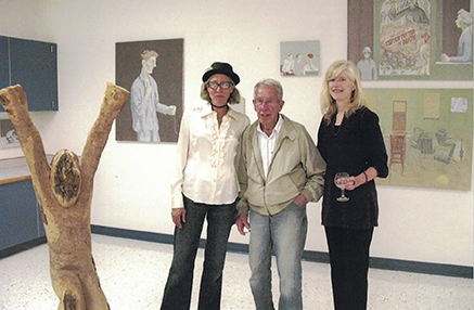 Jody Isaacson, David Byrd and Jessica Farrell David's first exhibition in Sidney Centre, NY