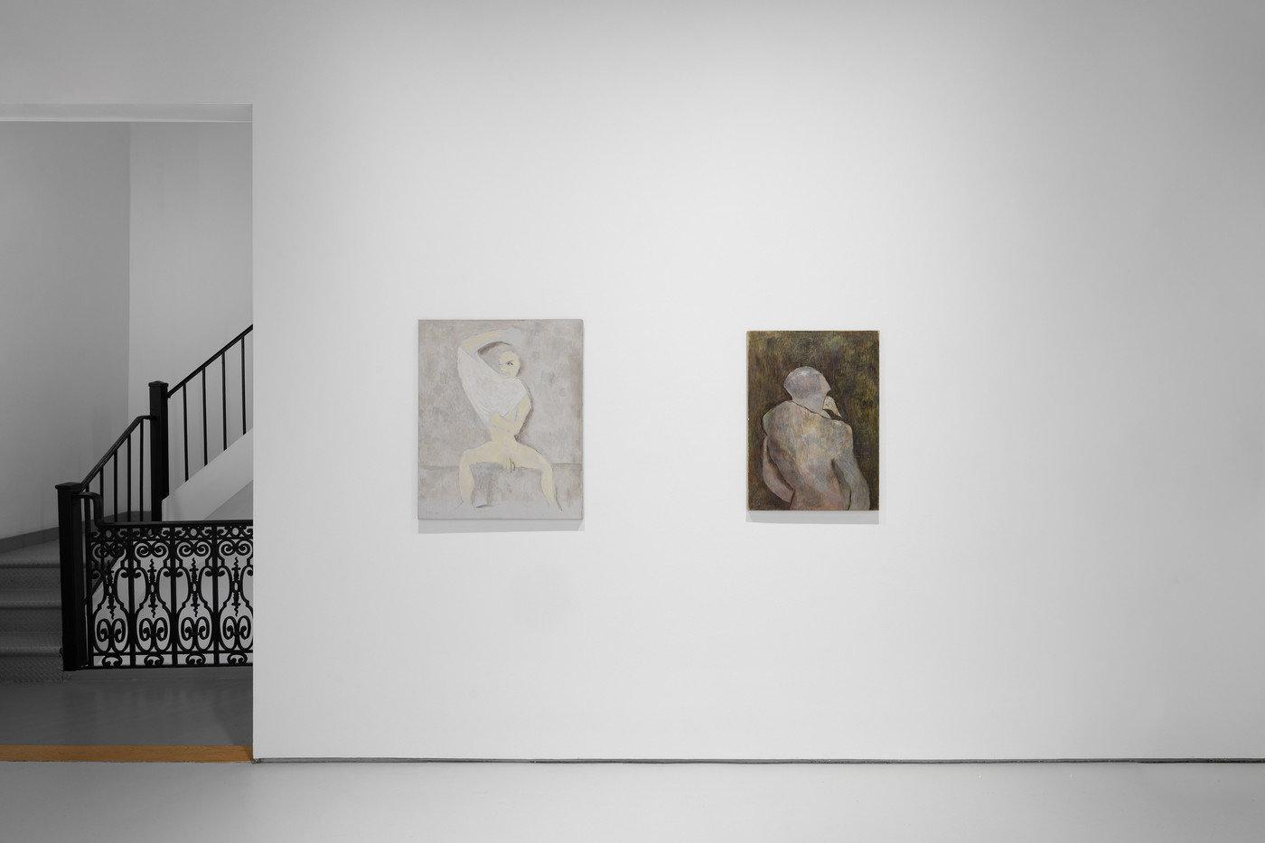 2 paintings and stairway