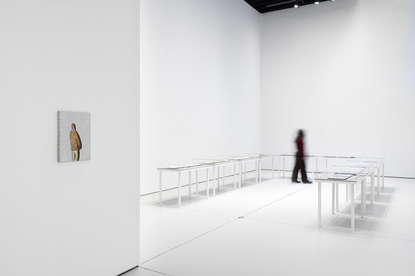 gallery view with visitor